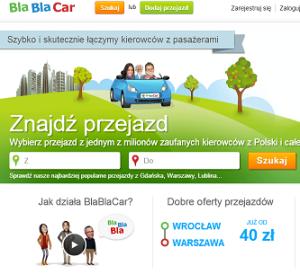 Obraz strony blablacar.pl