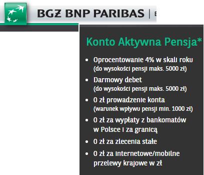 BNP Paribas – darmowy debet do 5000 złotych i wysokie oprocentowanie konta
