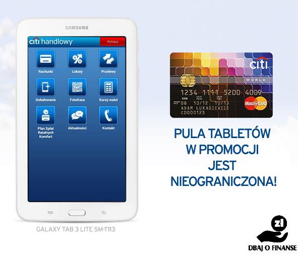CitiBank – karta kredytowa z tabletem w prezencie