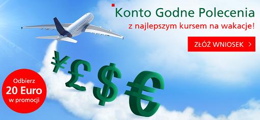 BZWBK – 20 euro premii za założenie konta i aktywowanie ekantora