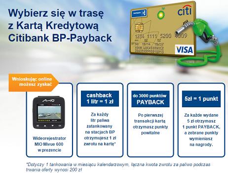 Oferta CitiBanku dla kierowców – rejestrator, cashback i punkty payback