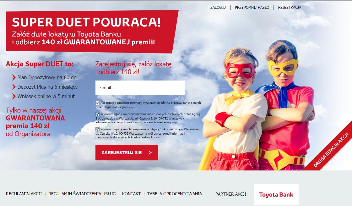 Toyota Bank - konto z premią