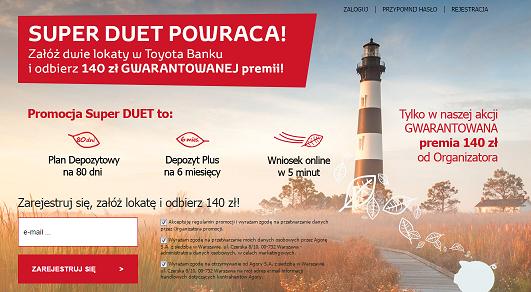 Toyota Bank i Agora wznawiają promocję – 140 złotych do zgarnięcia
