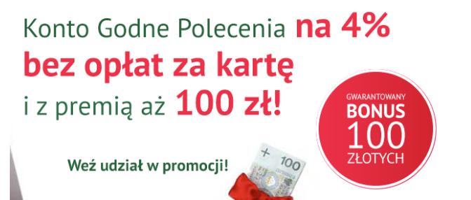 BZWBK i Comperia – 100 złotych za założenie konta i 4% na koncie