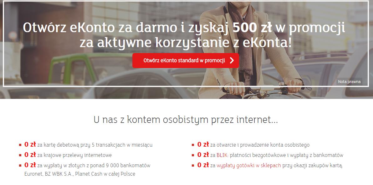 500 złotych w 6 miesięcy za ROR od mBanku